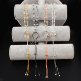 Arrowhead Gold Plated Natural White Quartz With Tassel & White Quartz Beads Necklace G1264/S1264/B1264/R1264