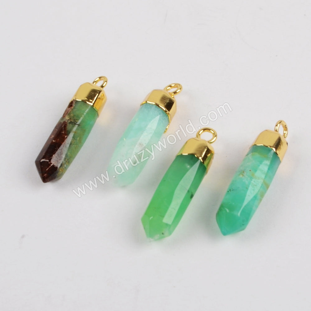 Australia Jade Spike Pendant Charm Jewelry Making Silver Plated S1377