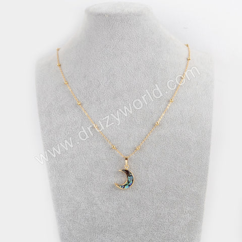 "20"" Gold Plated Abalone Shell Necklace G1717"