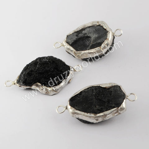 Tourmalinite Connector Fashion Women Jewelry Silver Plated S1939