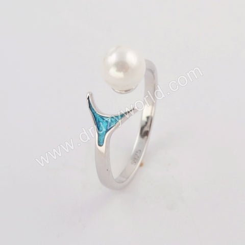 Silver Plated Pearl Ring WX1161