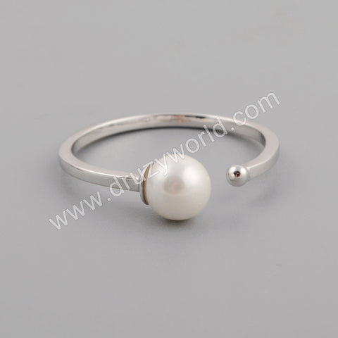 Silver Plated Pearl Ring WX1162