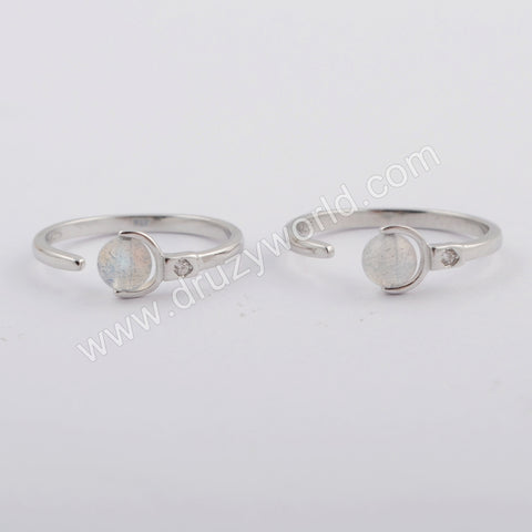 Silver Plated Round Ring WX1163