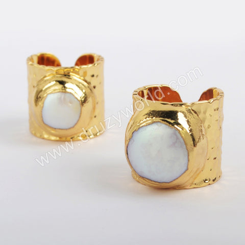 Gold Plated Natural Pearl Ring G1879
