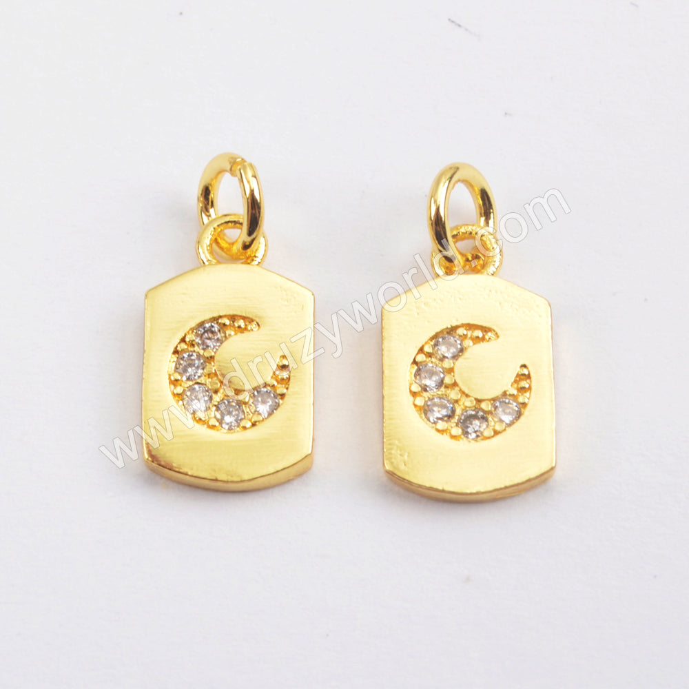 CZ Micro Pave Making Jewelry Supply Gold Plated WX1353