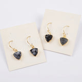 12mm Black Triangle Druzy Charm CL263