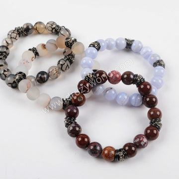 Stone Beads Adjustable Bracelet