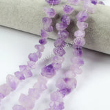 Raw Short Natural Amethyst Chip Points Loose Beads LS023