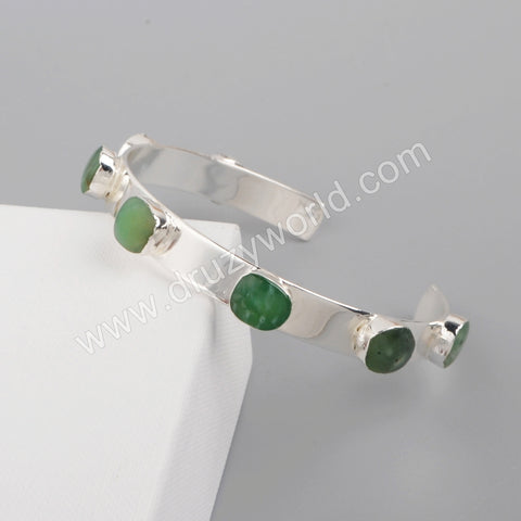 Silver Gold Plated Australia Jade Bangle S1929/G1929