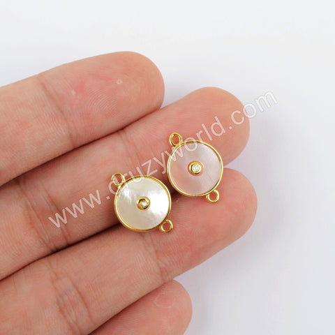 Gold Plated Natural Shell Connector WX1284