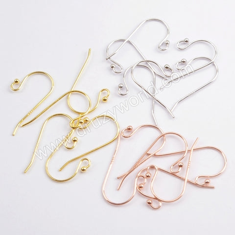5pairs/lot,Gold Plated 925 Sterling Silver Fish Hook PJ153