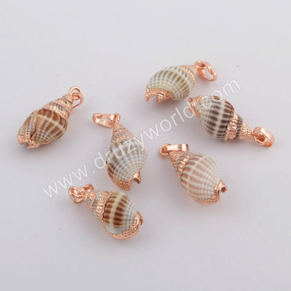 Rose Gold Plated Shell Pendant G1761
