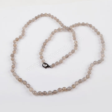 Natural Grey Agate Necklace
