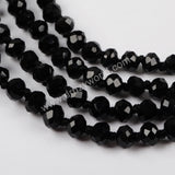 1 piece Black Agate Faceted Beads Long Necklace JT164