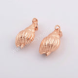 Rose Gold Plated Conch Shell Pendant G1577