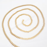 Brass Metal Fishtail Chain PJ089