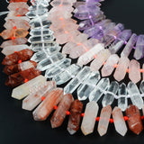 Natural Rose Quartz Point Loose Beads LS004
