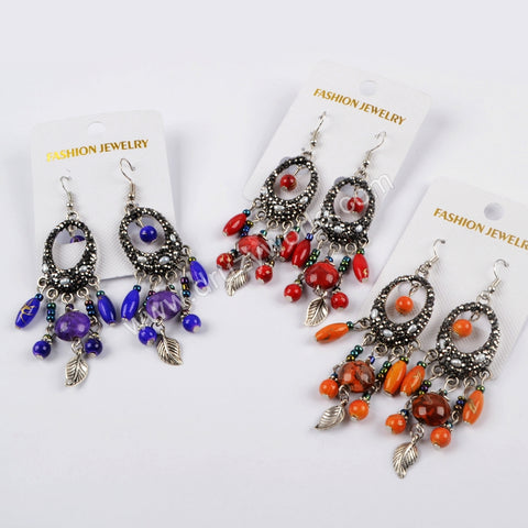 Rhinestone Pave Crystal Boho Dangle Earrings JAB838
