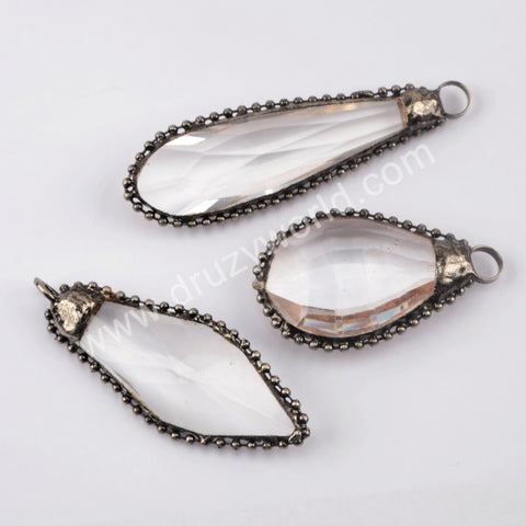 White Quartz Pendant Charm Fashion Jewelry Women WX1385