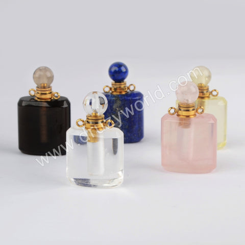 Gold Natural Stone Perfume Bottle Connector WX1188