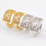 CZ Micro Pave Earrings Cuff WX704