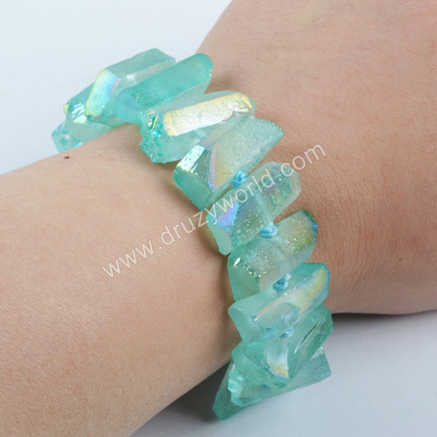 Blue Crystal Quartz Bracelet WX819
