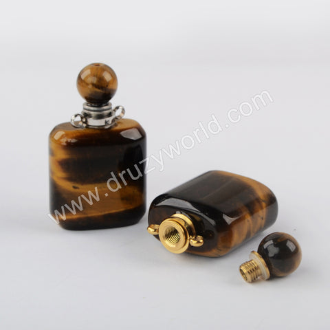 Tiger Eye Perfume Bottle Connector Gold Plated WX1504