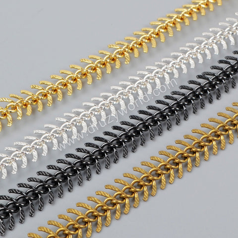 1 Meter Brass Metal Fishtail Chain PJ069