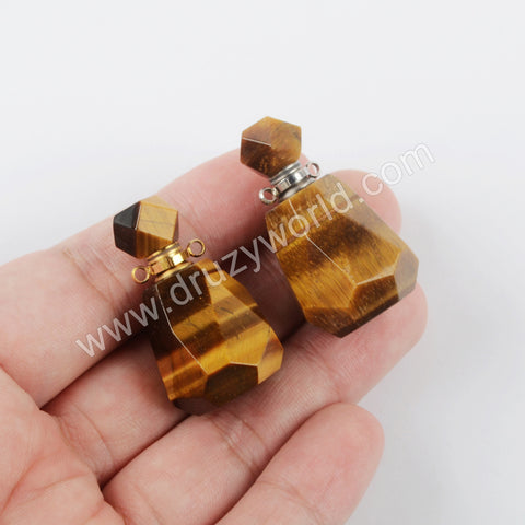 Tiger Eye Perfume Bottle Connector Gold Plated WX1503