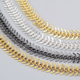 1 Meter Brass Metal Fishtail Chain PJ070