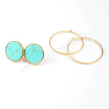 Round Dual Purpose Stud Earrings WX225