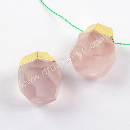 Multi-kind Facted Gem Stone Bead Charm WX1017