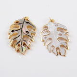 Gold Plated Tree Rainbow Shell Charm G1601