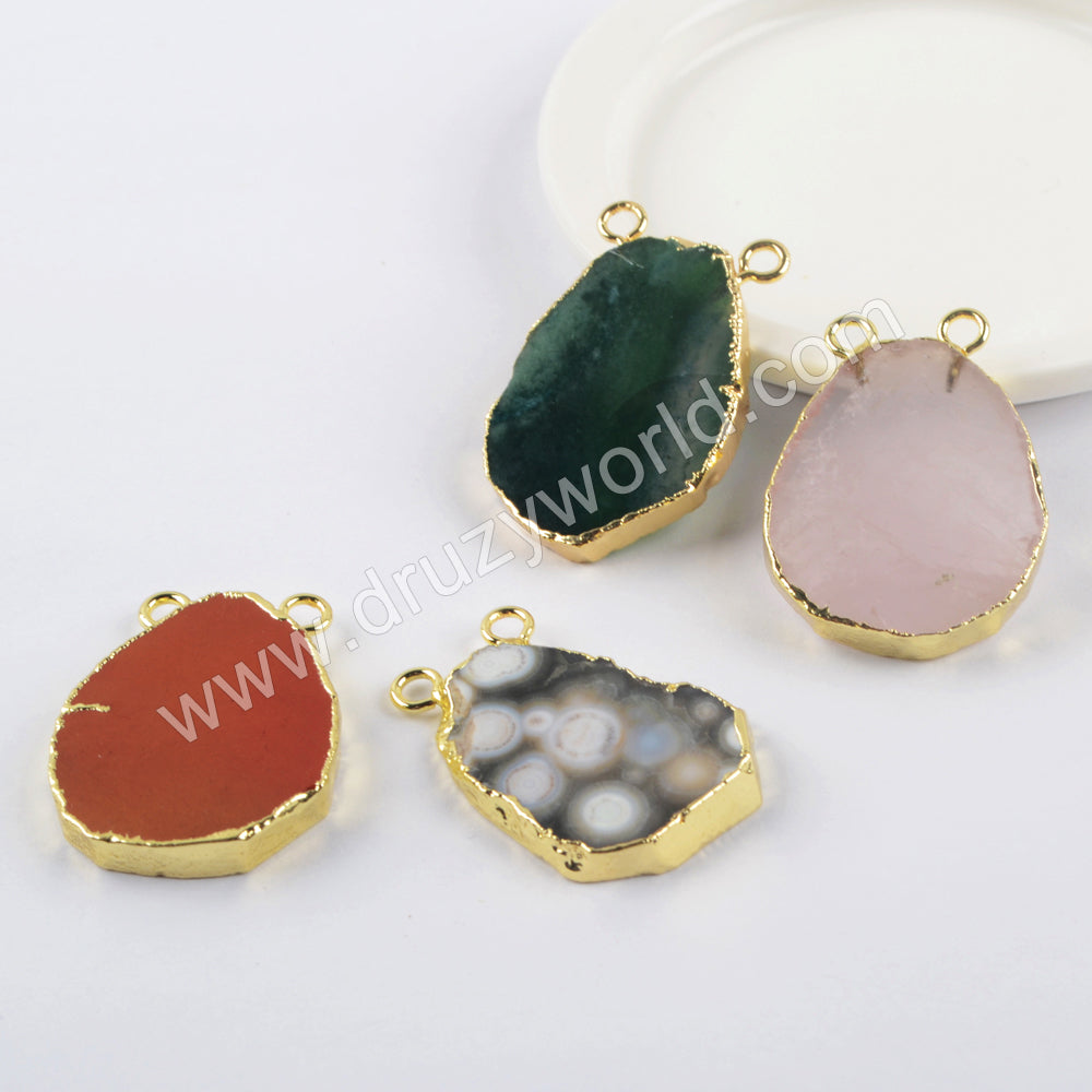 Natural Multi-kind Stones Gold Plated WX1500