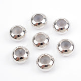 50pcs Wholesale Slider Clasps Round Beads With Rubber PJ086