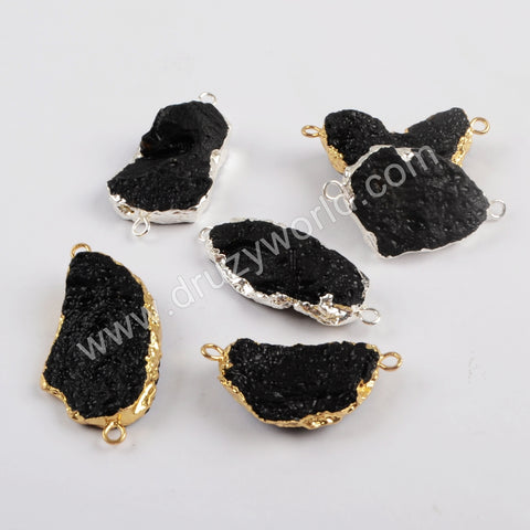 Gold Plated Black Tourmaline Connector G1819/S1819