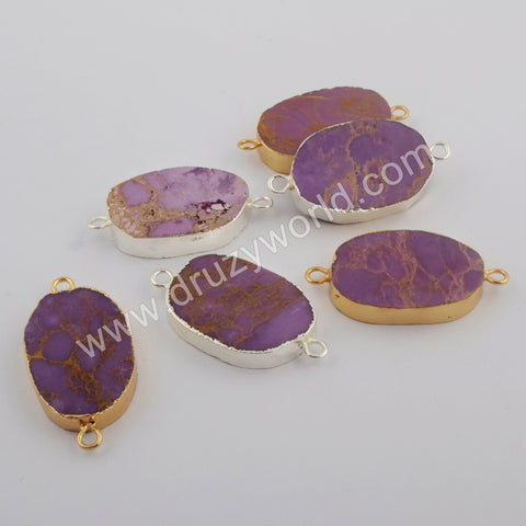 Gold Plated Muscovite Sugilite Connector G1749/S1749