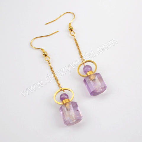 Natural Amethyst Earrings WX1169