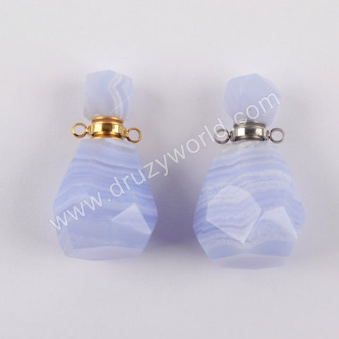 Onyx Agate Perfume Bottle Connector Jewelry Making Gold Plated WX1329