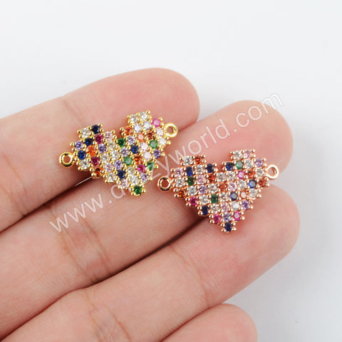 CZ Micro Pave Connector Gold Plated WX1486