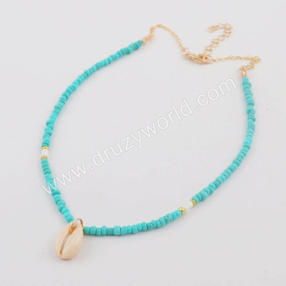 Cowrie Shell Freedom Beads Chocker WX1079