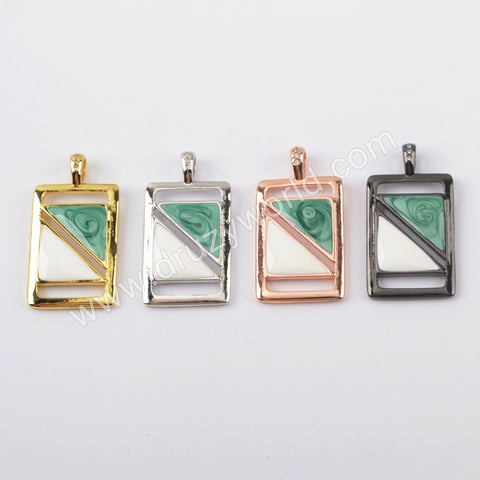 Spray Painted Baguette Pendant WX1231