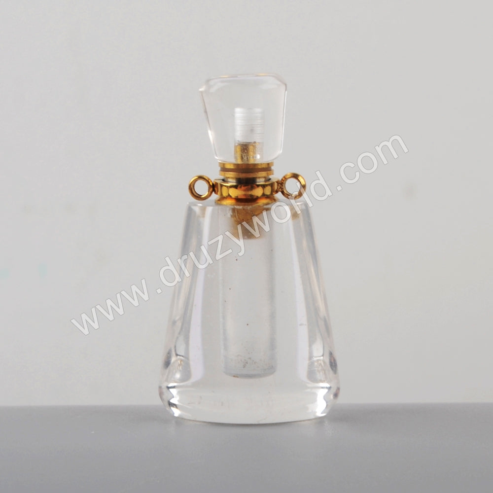 Gold Natural Stone Perfume Bottle Connector WX1219