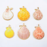 Gold Plated Rainbow Scallops Pendant G1696