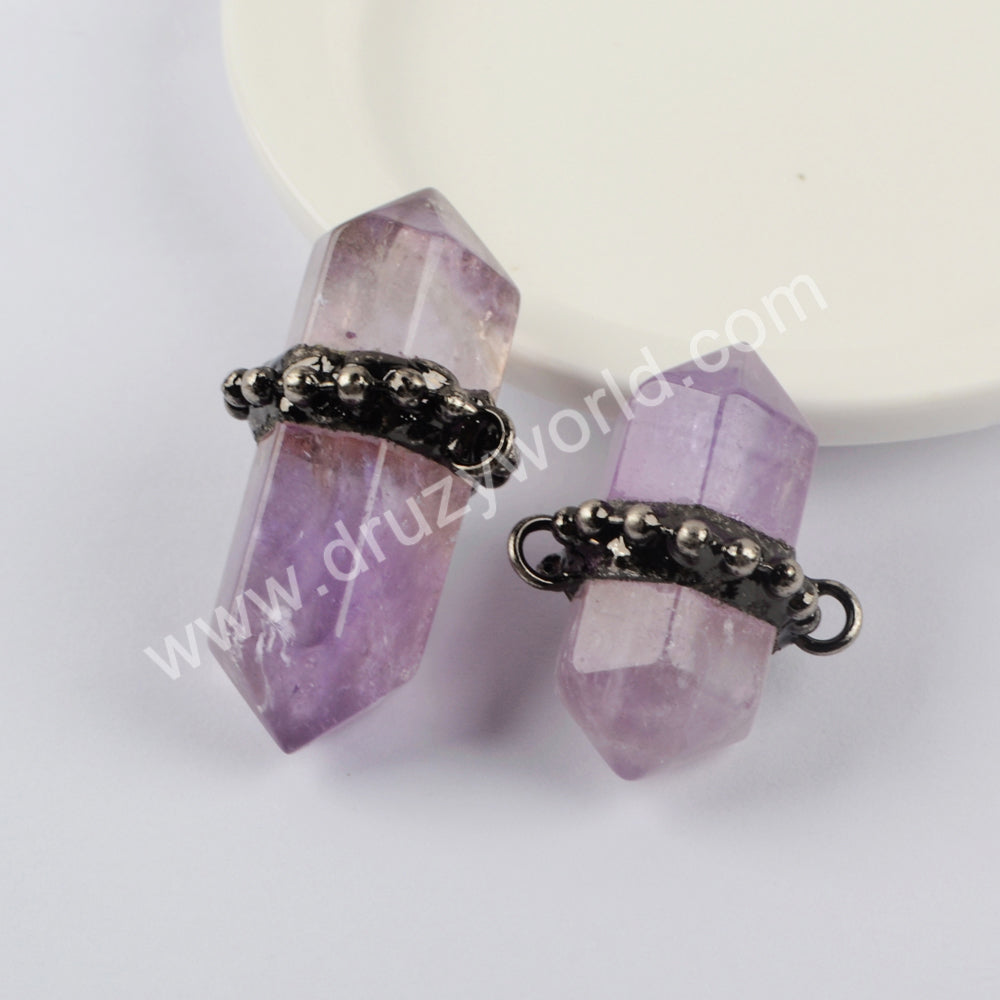 Natural Multi-kind Stones Connector Jewelry Making  WX1382