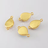 Natural Multi-kind Stones Trendy Jewelry Connector Gold Plated WX1295