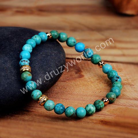 Natural Turquoise Beads Bracelet Gemstone Fashion Bracelet HD0200