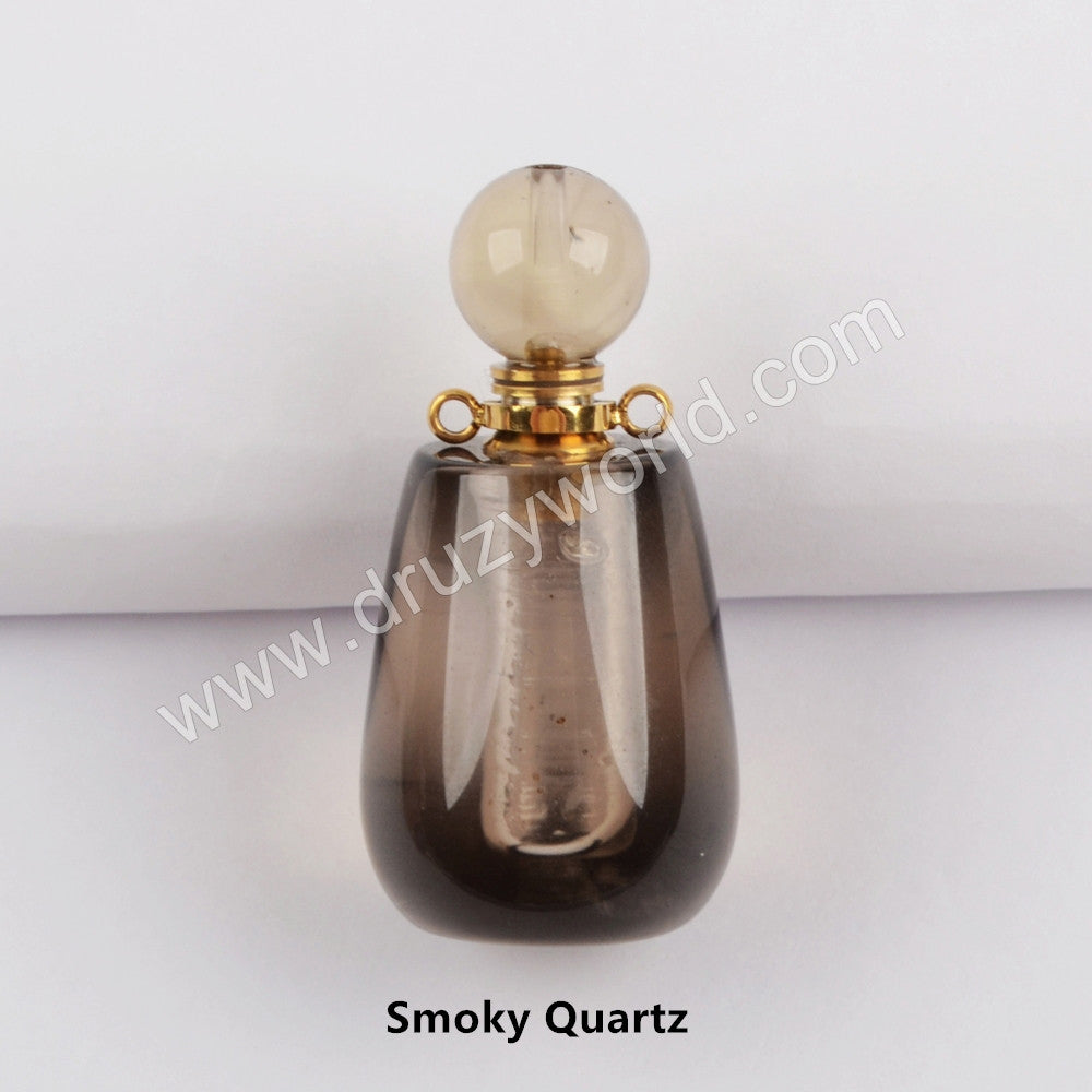 Gold Natural Stone Perfume Bottle Connector WX1192