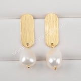 Natural Pearl Earrings Fashion Earrings For Women Gold Plated HD0188