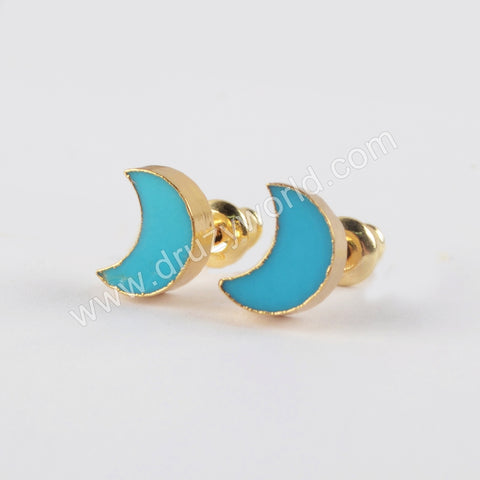 Turquoise Gold Vintage Tiny Earrings Fashion Jewelry 2019 G1933